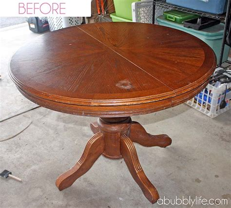 How To Paint Dining Table A Bubbly How To Paint A Dining Room Table Chairs Makeover Reveal