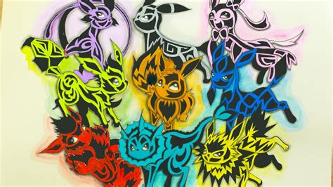 drawing eevee evolution all pokemon tattoos style