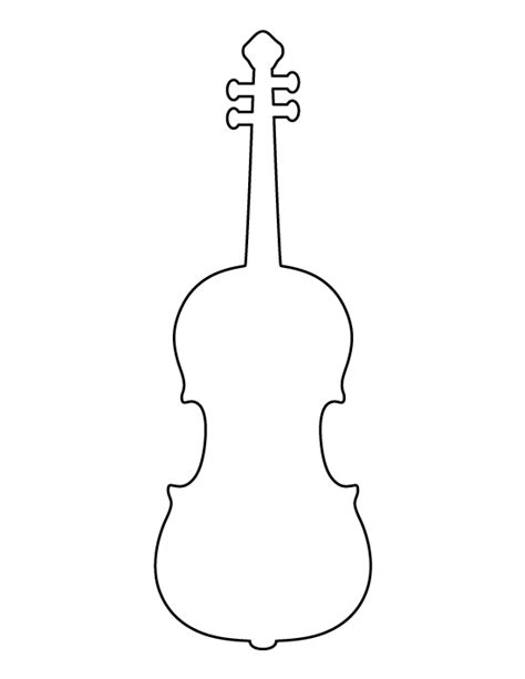 printable violin template violin pattern use the printable outline for crafts