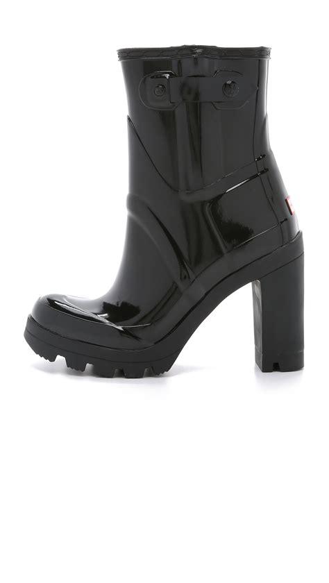 black gloss boots original high heel gloss booties in black lyst