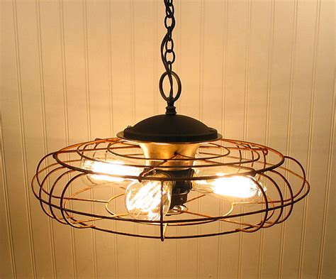 kitchen fan light fixtures diy lighting upcycling household products to quirky light