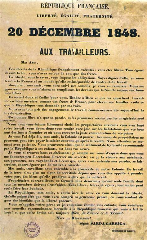 how to date a l by the discours de proclamation de l abolition de l esclavage par