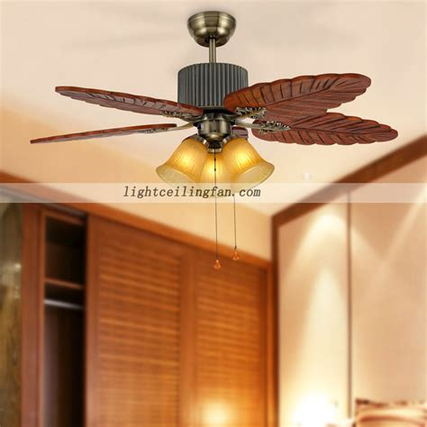 Wood Ceiling Fans With Lights 48inch Bronze Ceiling Fan Wood Blades Leaf Wood Ceiling Fan Light With 5 Blades 3 Speed