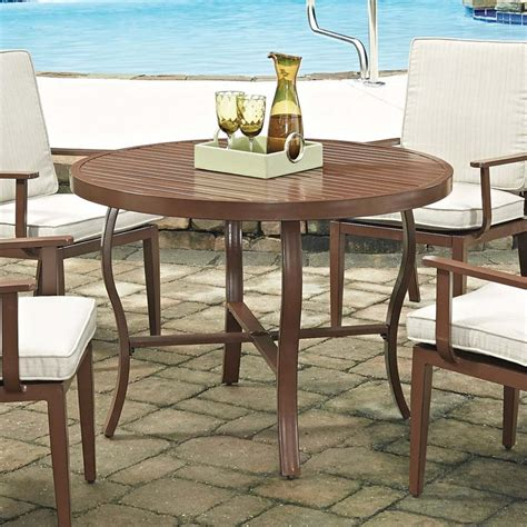 Patio Tables Only Home Styles Key West 42 5 Quot Patio Dining Table In Chocolate 5701 30
