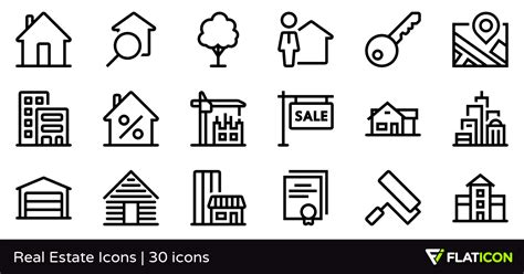 Home Design Plans Free real estate icons 30 free icons svg eps psd png files