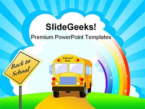 powerpoint themes free download school yellow school bus education powerpoint template 1110