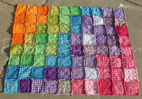 Rag Quilt by Crafts Ideas Quilt Ideas Baby Quilt Pattern Crochet Rainbows Rag Quilt Baby Clothing