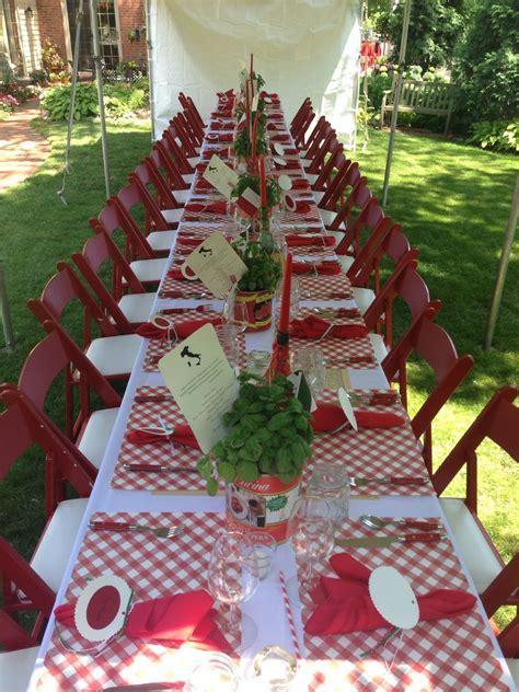 italian table setting   wedding shower   Pinterest