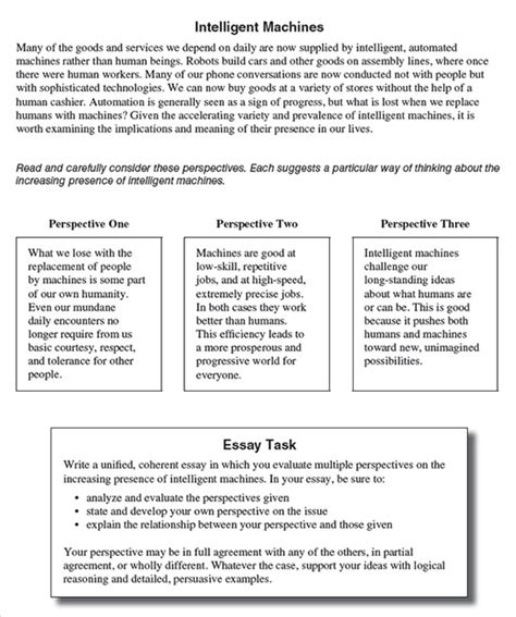 Act Essay Template the act essay a brand new assignment compass education