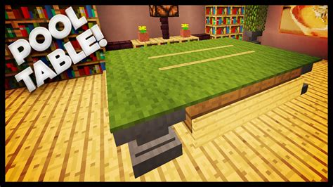 how to a pool table minecraft how to build a pool table