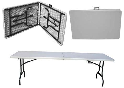 mesas para jardin de plastico mesa plegable plastico tipo portafolio 1 80m jardin evento