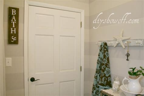 striped bathroom walls diy show diy decorating