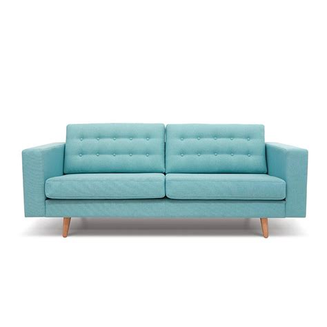 two seater blue sofa bed kreate
