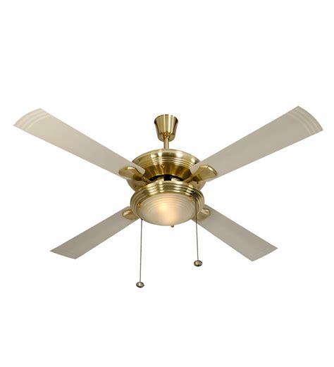 gold ceiling fan usha fontana one gold ivory ceiling fan with light by usha