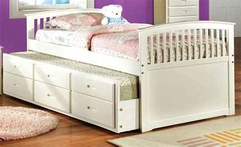 twin bed with trundle and storage bella white twin panel captain trundle storage bed from