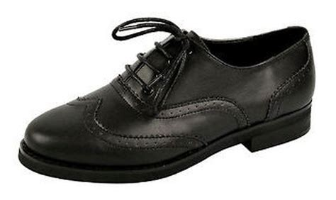 black oxford work shoes womens flat black oxford brogue lace up pumps