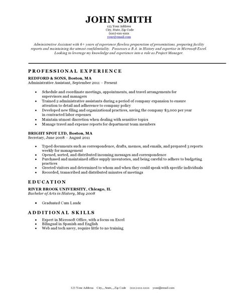 classic cv template resume format guide chronological functional combo