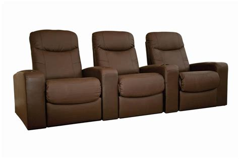Reclining Theater Chairs by Home Theater Seating Recliner Chairs 3 Seats Ebay