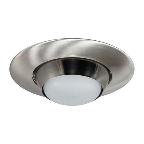 6 recessed lighting eyeball trim nicor 6 in nickel recessed eyeball trim 17506nk the