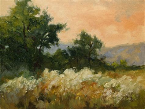 california landscape painting arroyo meadow
