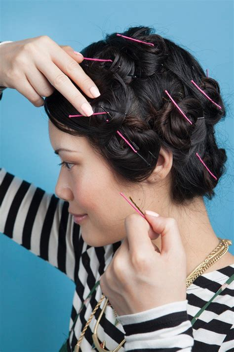 Curls Pinned Up Hairstyles by 12 Easy Ways To Get No Heat Waves Pretty Designs
