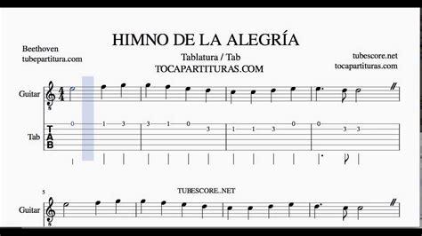 capacitor para tono de guitarra himno de la alegr 237 a partitura de la tablatura y punteo para guitarra en do mayor tabs