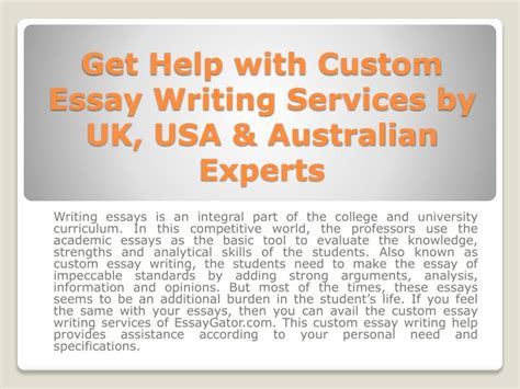 Uk Essay Writing Services by Ppt Custom Essay Writing Services Quality Custom Essay Help In Uk Usa Australia