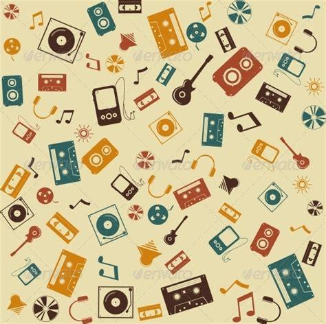 pattern photoshop music vector background seamless retro music sound by ikatod