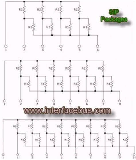 glossary of electronic dual termination resistor network sip schematic