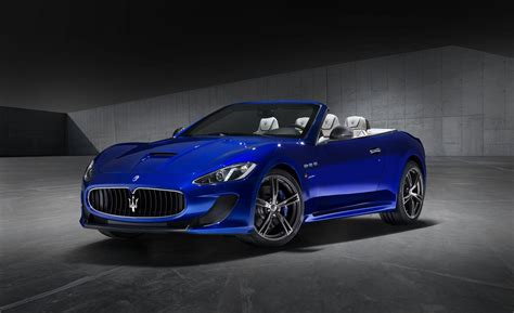 blue maserati granturismo convertible car and driver