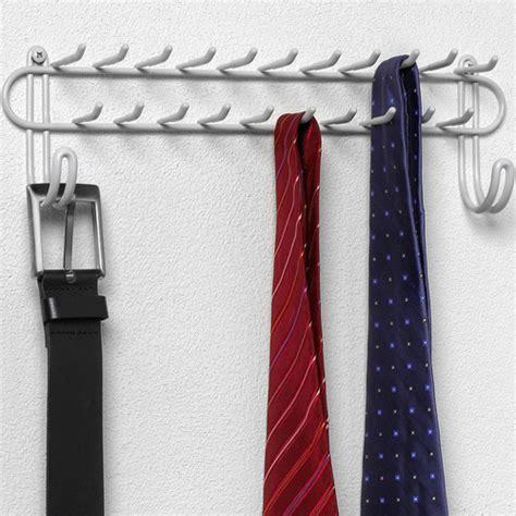 Closet Belt Rack by Wall Mount Closet Tie Rack White In Tie And Belt Racks