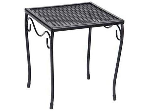 woodard wrought iron 12 5 square small end table 190212