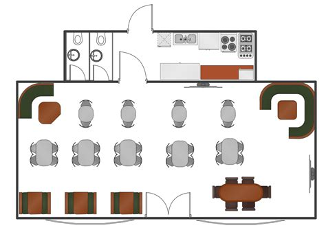 cafe floor plan restaurant floor plans software design your restaurant