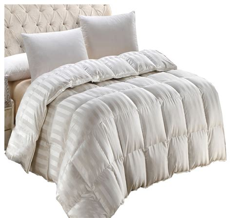 california king down comforters sale baffle box silk 900tc stripe cream down comforter 550 fp