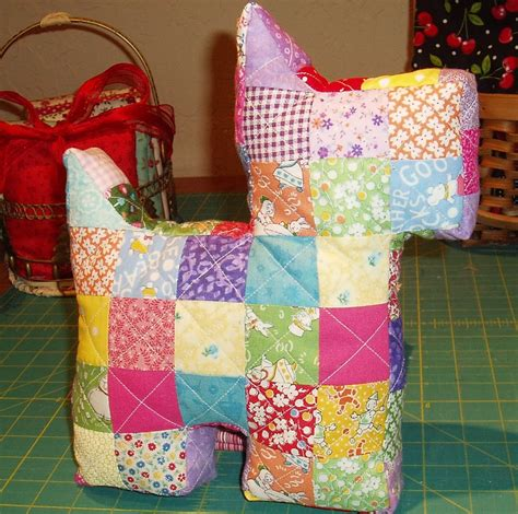 Patchwork Scottie - in the attic patchwork scottie pillow and