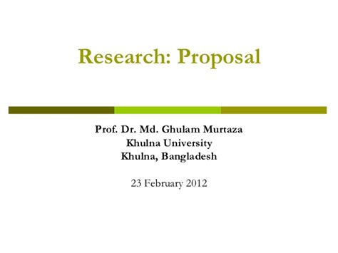 format of research proposal ppt research proposal