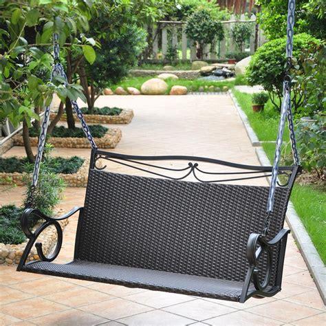 Valencia Patio Swing Porch Swing International Caravan Valencia Wicker And