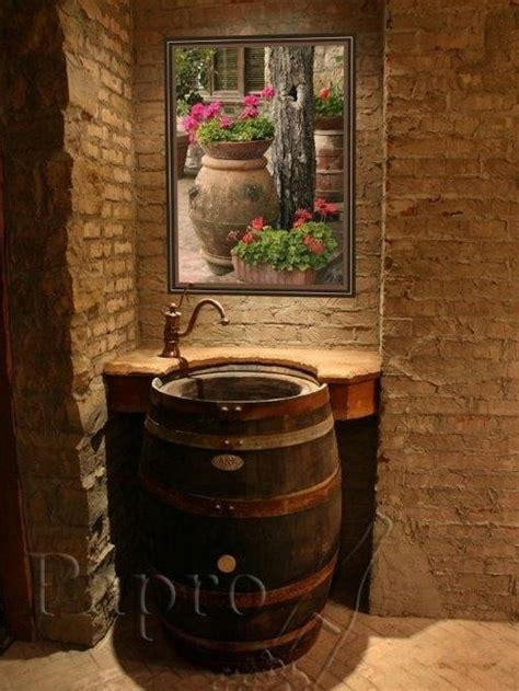 dashing diy wine barrel with 1000 ideas about wine barrel sink on barrel sink wine barrel sink bathroom and