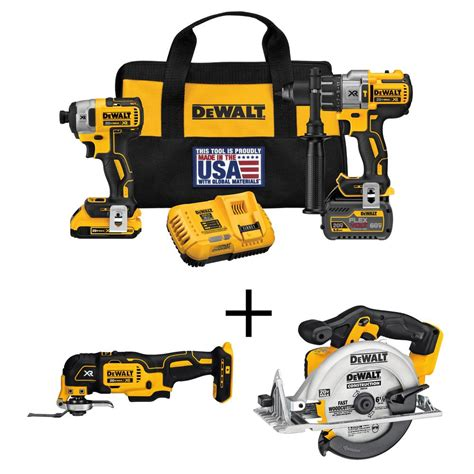 Dewalt Dcs355d2 Kr Li Ion Brushless Multi Tool dewalt flexvolt 60 volt and 20 volt max lithium ion cordless brushless combo kit 2 tool bonus