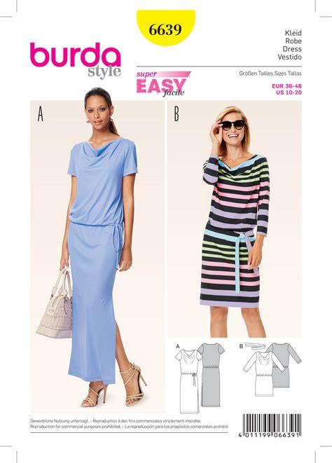 pattern review burda 7700 burda 6639 misses dress