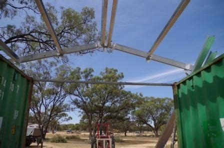 steel frame  purlins attached container shed shed