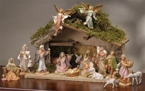 christmas manger sets sixteen fontanini nativity set