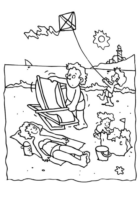 Galerry coloring pages of beach buckets