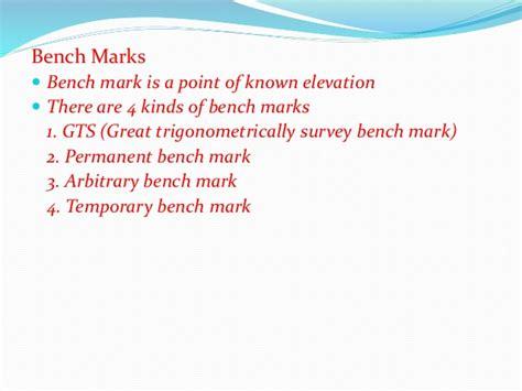 permanent bench mark b sc agri i foswce unit 2 leveling
