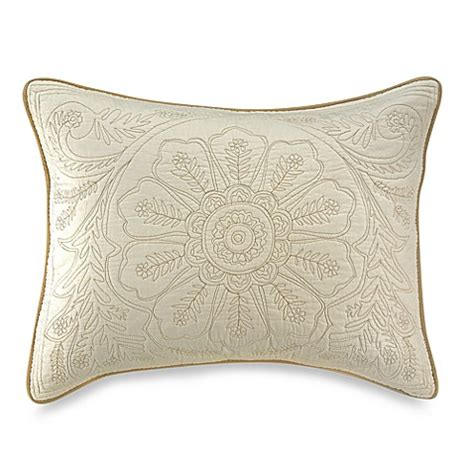 pillow shams bed bath and beyond vallejo ivory standard pillow sham bed bath beyond