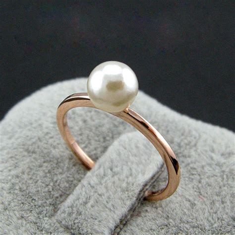 Handmade Pearl Ring - promotion rigant 18k real gold plated handmade