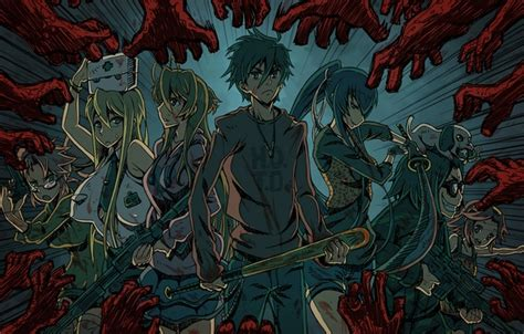download theme windows 7 highschool of the dead wallpaper girl anime highschool of the dead guys