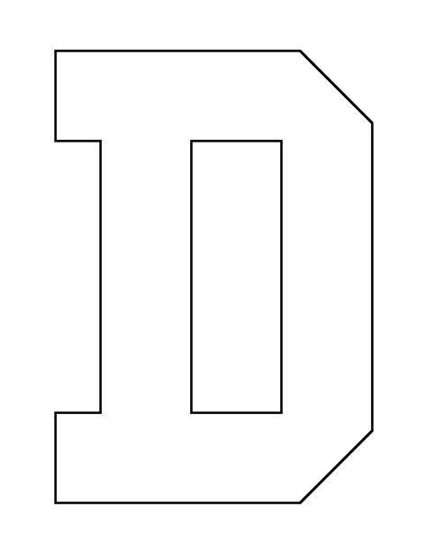 letter d pattern use the printable outline for crafts