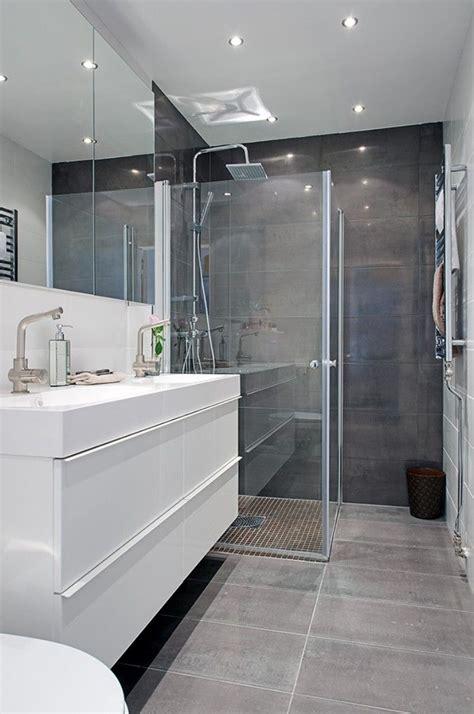 bano en tonos grises banys en  banos modernos