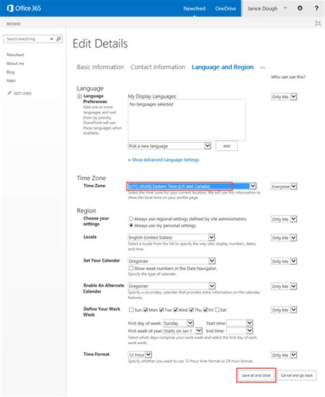 Office 365 Timezone Office 365 Change Your Time Zone